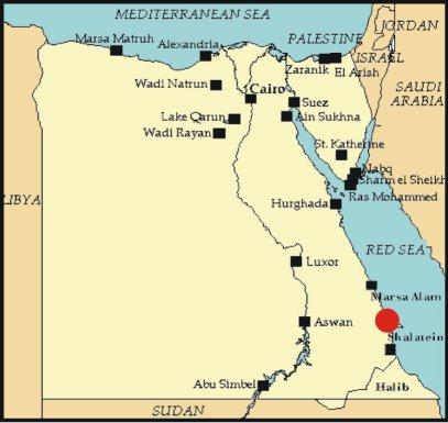 Cartina Turistica Egitto.Berenice